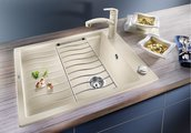 Кухонная мойка оборачиваемая с крылом и решеткой, жемчужный Blanco Elon 45S 520992