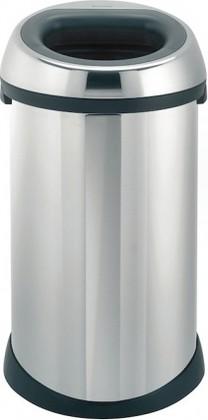 Мусорный бак с открытой крышкой 50л сталь полированная Brabantia 390906