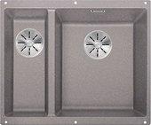 Кухонная мойка Blanco Subline 340/160-U, без крыла, основная чаша справа, отводная арматура, гранит, алюметаллик 523560