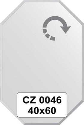 Зеркало для ванной 40x60см с фацетом 10мм FBS CZ 0046