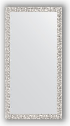 Зеркало в багетной раме 51x101см мозаика хром 46мм Evoform BY 3068