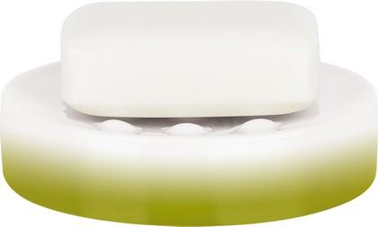 Мыльница фарфоровая зелёная Spirella Tube Gradient 1017962