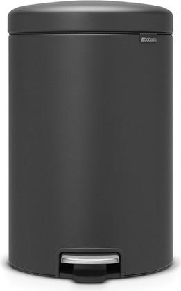Мусорный бак с педалью 20л, минерально-графитовый Brabantia Newicon 114182