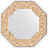 Зеркало Evoform Octagon 566x566 в багетной раме 90мм, золотые дюны BY 3796