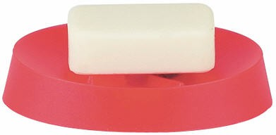 Мыльница пластиковая красная Spirella Move 1009594