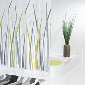 Штора для ванной Grund Erba, 180x200см, полиэстер, серый 867.98.166