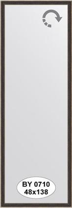 Зеркало 48x138см в багетной раме витой махагон Evoform BY 0710