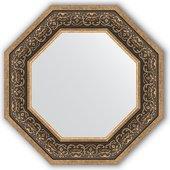 Зеркало Evoform Octagon 594x594 в багетной раме 101мм, вензель серебряный BY 3841