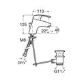 Смеситель для раковины, с донным клапаном, хром Roca MONODIN 5A3007C00