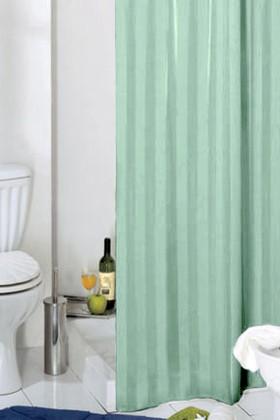 Штора для ванны 180x200см текстильная зелёная с кольцами Grund Rigone 804.98.015