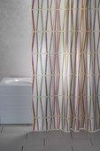 Штора для ванны 180x200см текстильная мультиколор с кольцами 12шт Grund Bamboo 2122.98.0098