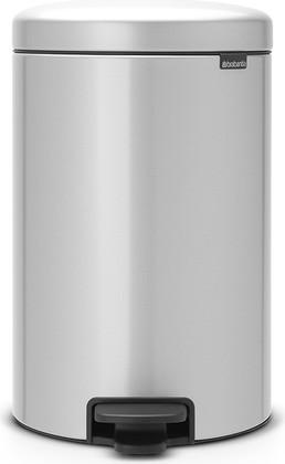 Мусорный бак с педалью 20л, серый металлик Brabantia Newicon 114069