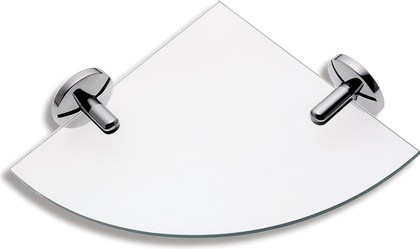 Полка для ванной стеклянная угловая 6х25х34см Novaservis 6135.0