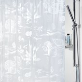 Штора для ванной Spirella Riff, 180x200см, полихлорвинил, белый 1031544