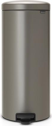Мусорный бак с педалью 30л, платиновый Brabantia Newicon 114441