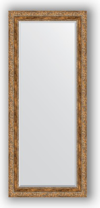 Зеркало с фацетом в багетной раме 65x155см виньетка античная бронза 85мм Evoform BY 3566