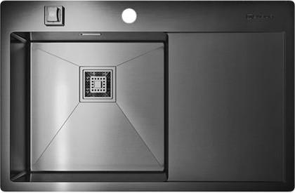 Кухонная мойка с правым крылом, нержавеющая вороненая сталь Omoikiri Akisame 78-GM-L 4993099