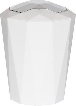 Ведро пластиковое белое 5л Spirella CRYSTAL 1018129