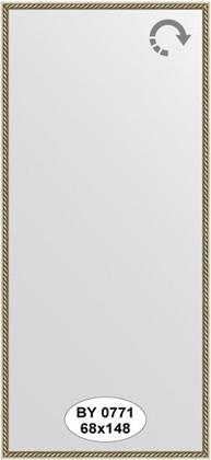 Зеркало 68x148см в багетной раме витая латунь Evoform BY 0771