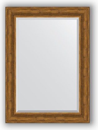 Зеркало с фацетом в багетной раме 79x109см травленая бронза 99мм Evoform BY 3472