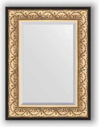 Зеркало 60x80см с фацетом 30мм в багетной раме барокко золото Evoform BY 1231