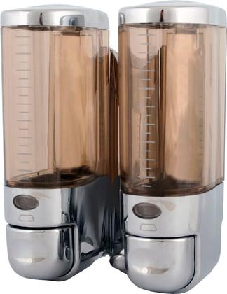 Дозатор для жидкого мыла двойной, хром Connex ASD-28DS