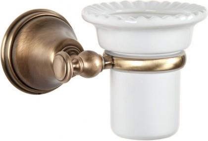 Стаканчик настенный керамический, бронза TW Harmony TWHA109br