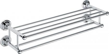 Полка для полотенец двойная 600мм, хром, Bemeta 144302252