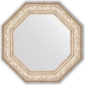 Зеркало Evoform Octagon 706x706 в багетной раме 109мм, виньетка серебро BY 3854