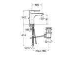 Смеситель для раковины однорычажный с донным клапаном, хром Roca L20 5A3A09C00