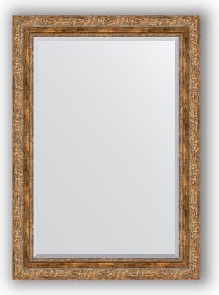Зеркало с фацетом в багетной раме 75x105см виньетка античная бронза 85мм Evoform BY 3462