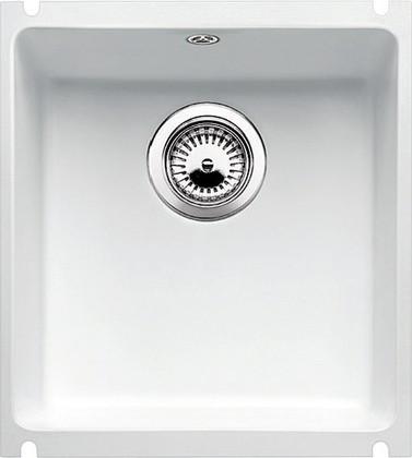 Кухонная мойка без крыла, с клапаном-автоматом, керамика, белый матовый Blanco Subline 375-U PuraPlus 516038