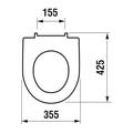 Сиденье для унитаза с крышкой, микролифт, белое Jika Lyra Plus 933853000001