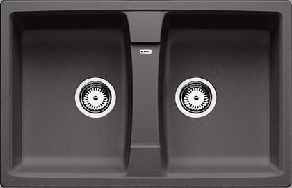 Кухонная мойка оборачиваемая без крыла, гранит, тёмная скала Blanco Lexa 8 518863