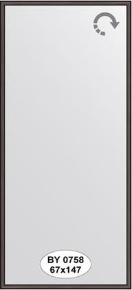 Зеркало 67x147см в багетной раме махагон Evoform BY 0758
