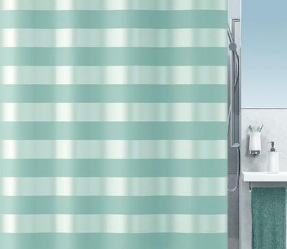 Штора для ванной 180x200см текстильная мята Spirella SCALA 1016309