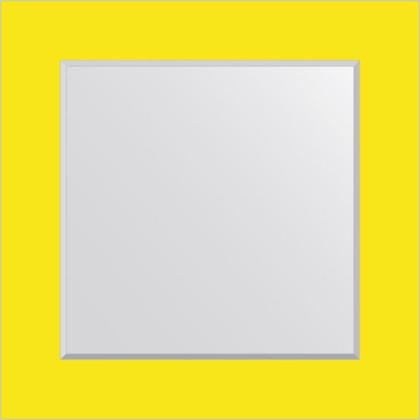 Зеркало для ванной на цветном основании 70x70см FBS CZ 0607