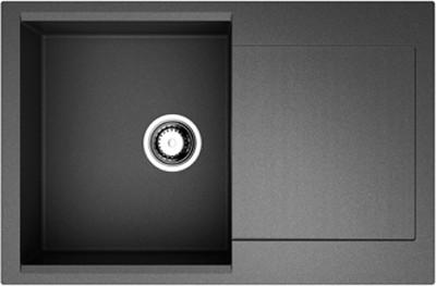 Кухонная мойка оборачиваемая с крылом, чёрный Omoikiri Daisen 78-BL 4993327