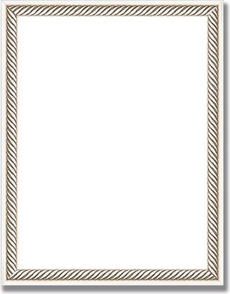 Зеркало 36x46см в багетной раме витое серебро Evoform BY 1326