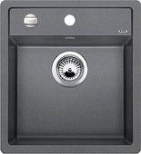 Кухонная мойка Blanco Dalago 5, без крыла, с клапаном-автоматом, гранит, алюметаллик 518522