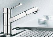 Смеситель кухонный однорычажный с выдвижным изливом, нержавеющая сталь Blanco ZENOS-S 517818