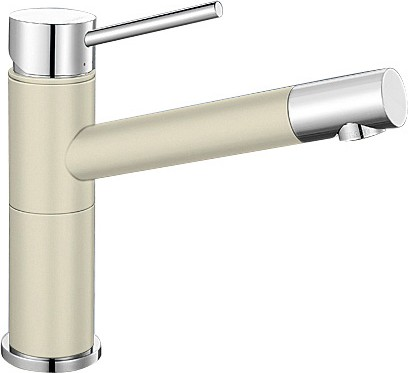 Небольшой кухонный однорычажный смеситель, хром / жасмин Blanco ALTA Compact 515318