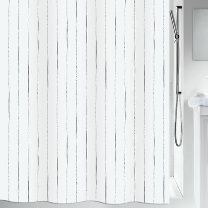 Штора для ванной Spirella Alina, 180x200см, текстиль, серый 1019300