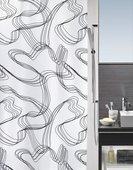 Штора для ванны 180x200см текстильная чёрно-белая Spirella GRAFFITO 1014407
