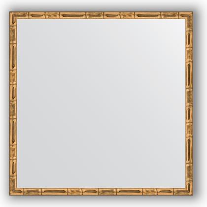 Зеркало 57x57см в багетной раме золото-бамбук Evoform BY 0609