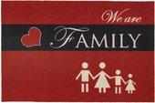 Коврик придверный Golze Homelike Family, 40x60, красный 1676-15-04