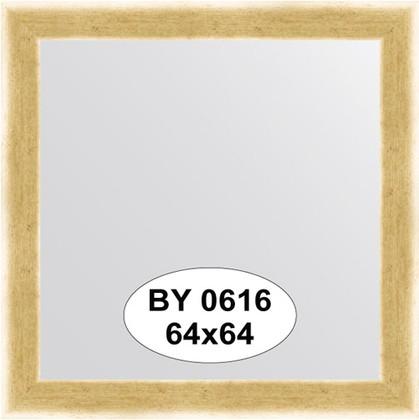 Зеркало 64x64см в багетной раме травлёное золото Evoform BY 0616
