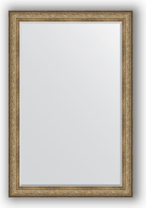 Зеркало с фацетом в багетной раме 120x180см виньетка античная бронза 109мм Evoform BY 3633
