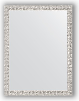 Зеркало в багетной раме 61x81см мозаика хром 46мм Evoform BY 3164
