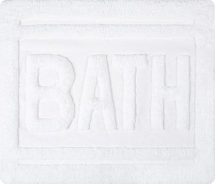 Коврик для ванной комнаты хлопковый 55x65см белый Spirella Ibiza Love BATH 1017826